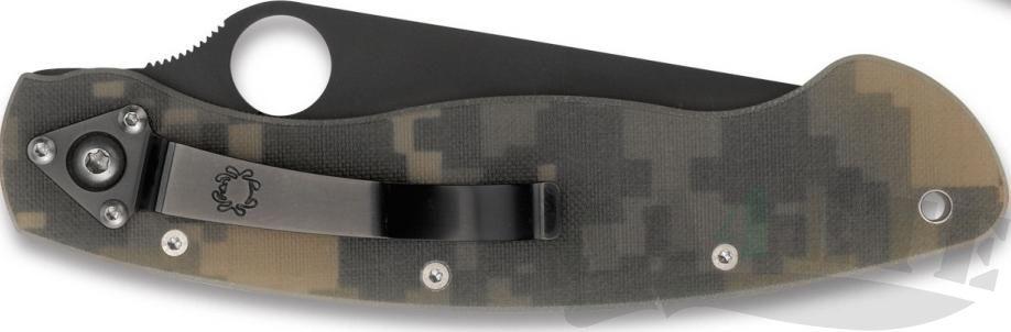 картинка Нож складной Spyderco Military Camo Black DLC-Coated G-10 Handle C36GPCMOBK от магазина ma4ete