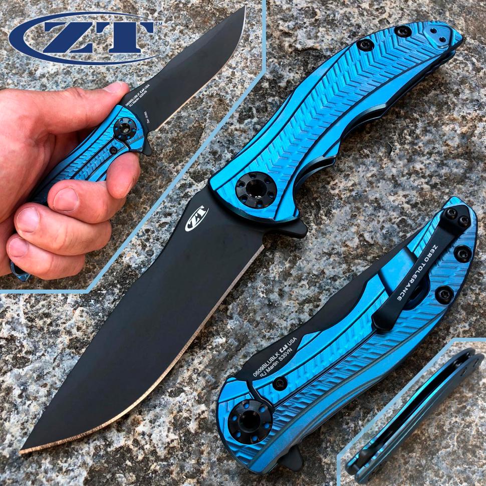 картинка Складной нож Zero Tolerance 0609BLUBLK от магазина ma4ete