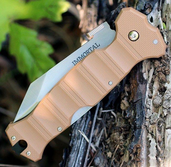 картинка Складной нож Cold Steel Immortal Coyote Tan 23HVB от магазина ma4ete