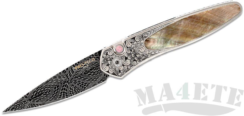 картинка Складной автоматический нож Pro-Tech Ultimate Custom Newport Bronze Ti w/Black Lip Pearl от магазина ma4ete