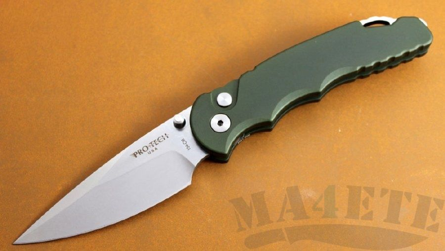 картинка Складной полуавтоматический нож Pro-Tech TR-4 Tactical Response TR-5 SA.1 GRN от магазина ma4ete