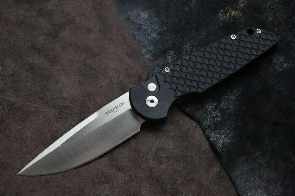 картинка Складной автоматический нож Pro-Tech TR-3 Tactical Response Fish Scale TR-3X1SF от магазина ma4ete