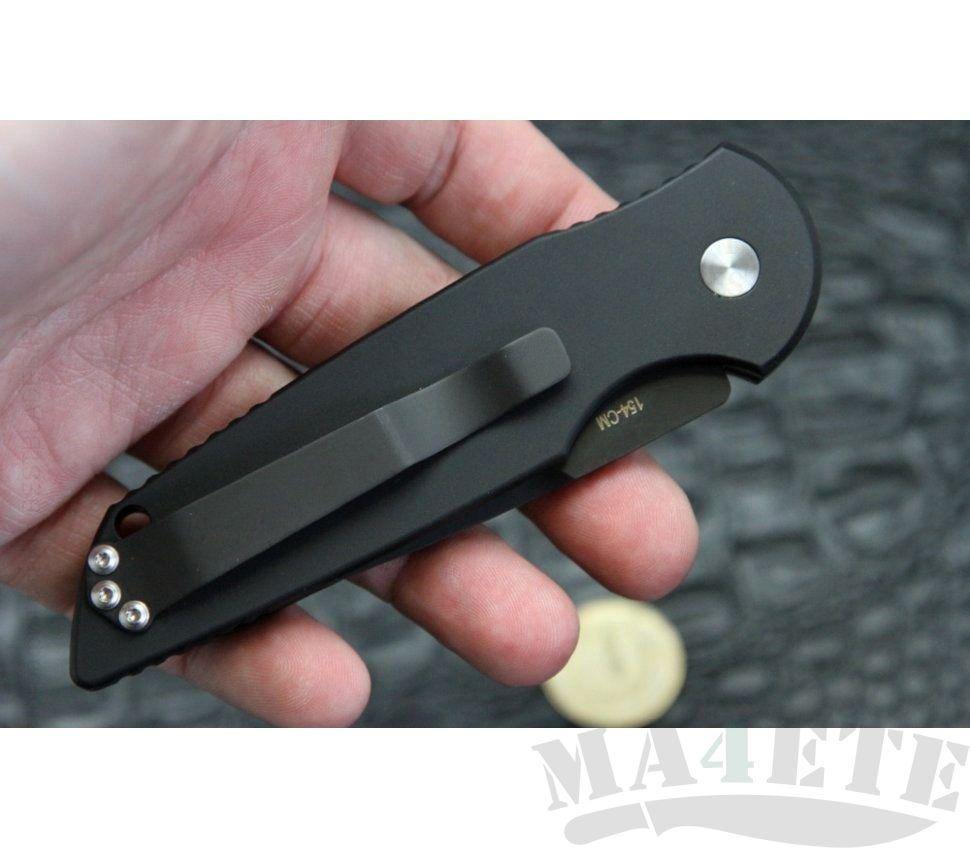 картинка Складной автоматический нож Pro-Tech TR-3 Tactical Response Limited Black TR-3CF2 от магазина ma4ete