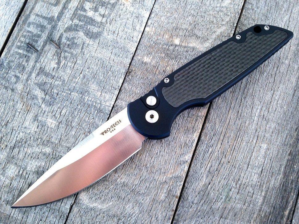 картинка Складной автоматический нож Pro-Tech TR-3 Tactical Response Limited TR-3CF1 от магазина ma4ete