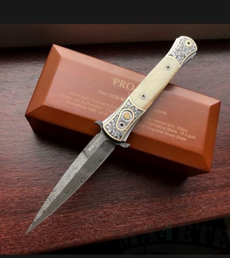 картинка Складной автоматический нож Pro-Tech The Don Ultimate Custom Ivory от магазина ma4ete