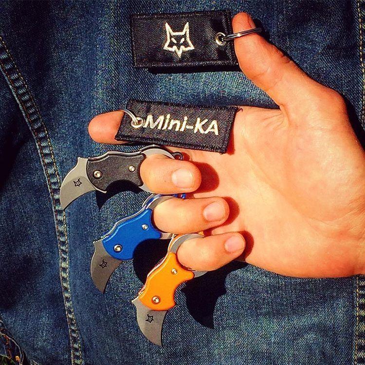 картинка Складной нож-брелок Fox Mini-KA Karambit Orange 535O от магазина ma4ete