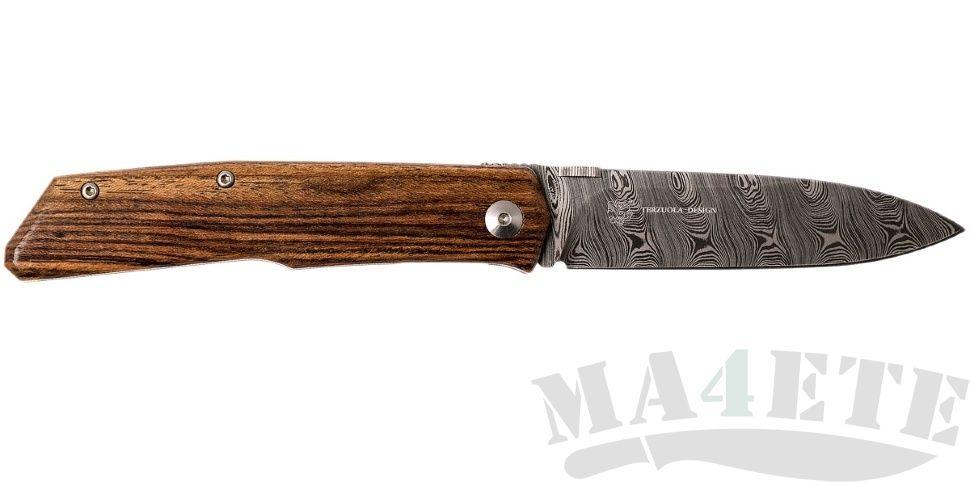 картинка Складной нож Fox Terzuola Bocote Wood Damascus 525DB от магазина ma4ete