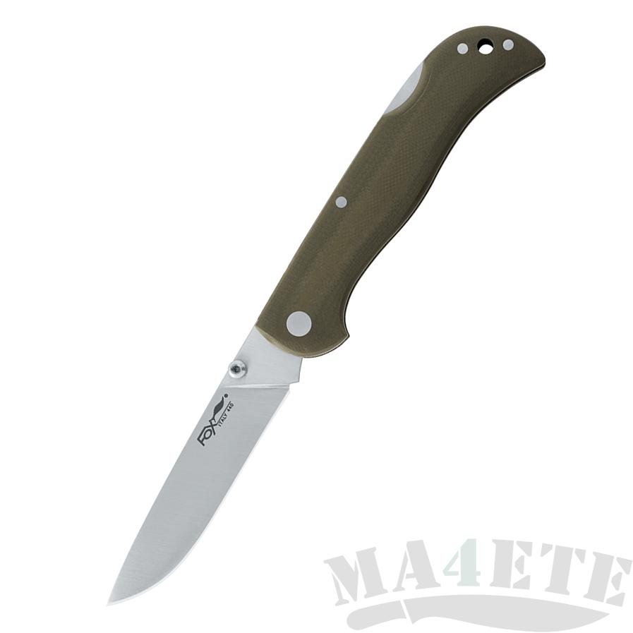 картинка Складной нож Fox G10 Green F500G от магазина ma4ete