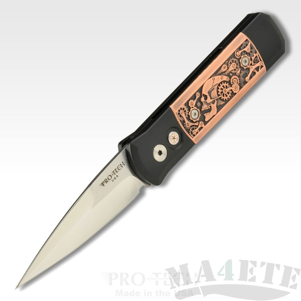 картинка Складной автоматический нож Pro-Tech Godson Steampunk 7SP4 от магазина ma4ete