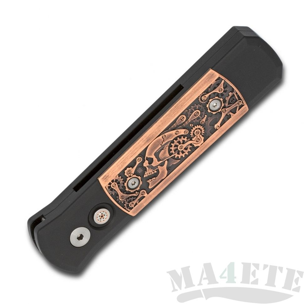 картинка Складной автоматический нож Pro-Tech Godson Steampunk 7SP3 от магазина ma4ete