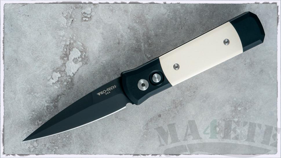 картинка Складной автоматический нож Pro-Tech Godson Tuxedo 752 от магазина ma4ete