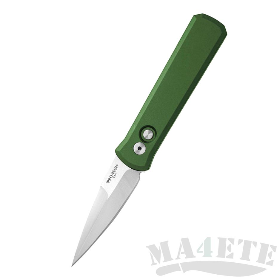 картинка Складной автоматический нож Pro-Tech Godson 721Satin-Green от магазина ma4ete