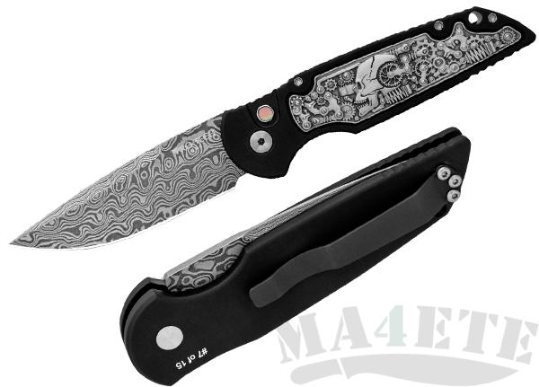 картинка Складной автоматический нож Pro-Tech TR-3 Shaw Steampunk TR-3.50DM от магазина ma4ete