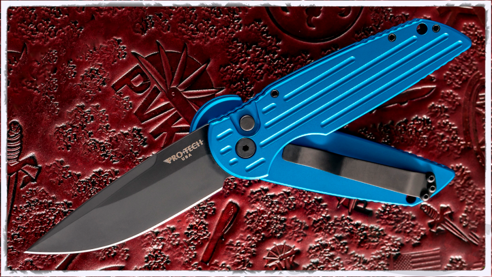 картинка Складной автоматический нож Pro-Tech TR-3 Tactical Response SWAT Blue TR-3 SWAT BLUE от магазина ma4ete