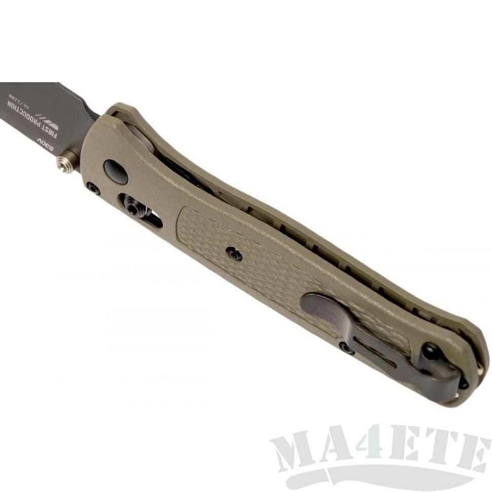 картинка Складной нож Benchmade Bugout Ranger Green Smoked Gray 535GRY-1 от магазина ma4ete