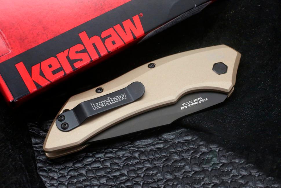 картинка Складной автоматический нож Kershaw Launch 1 K7100TANBLK от магазина ma4ete