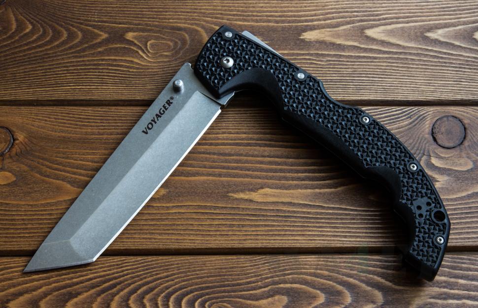 картинка Складной нож Cold Steel Voyager XL Tanto Aus 10A 29AXT от магазина ma4ete