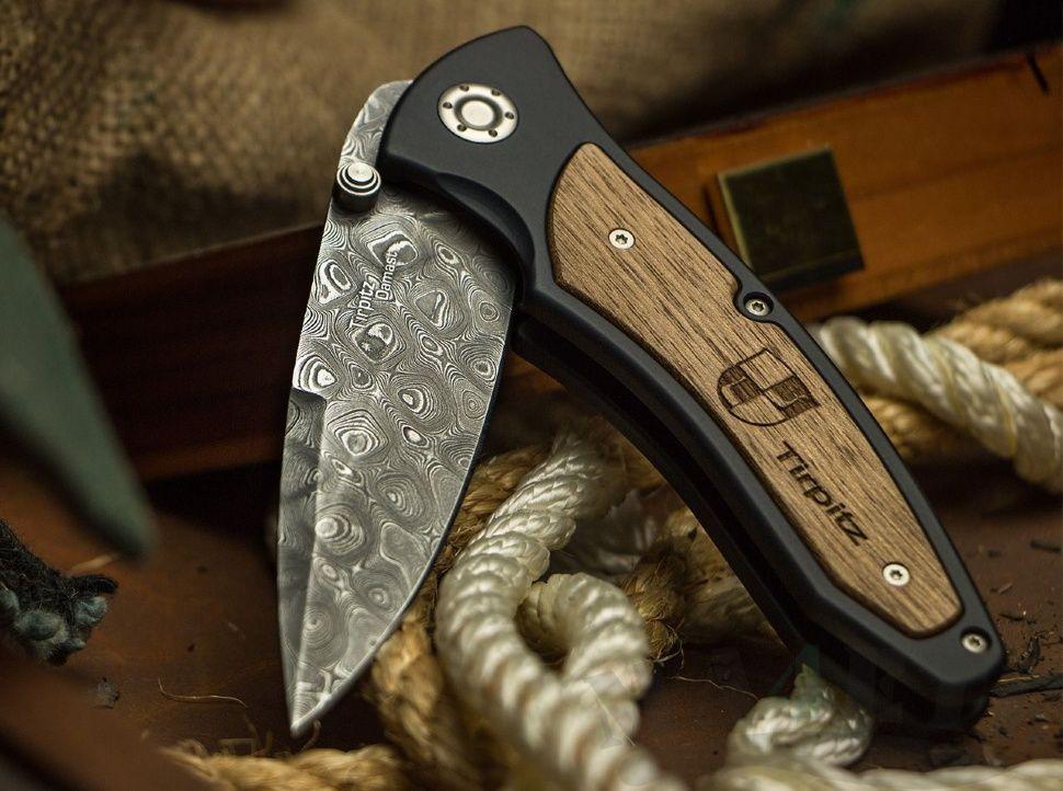 картинка Складной нож Boker Tirpitz-Damast 110190DAM от магазина ma4ete