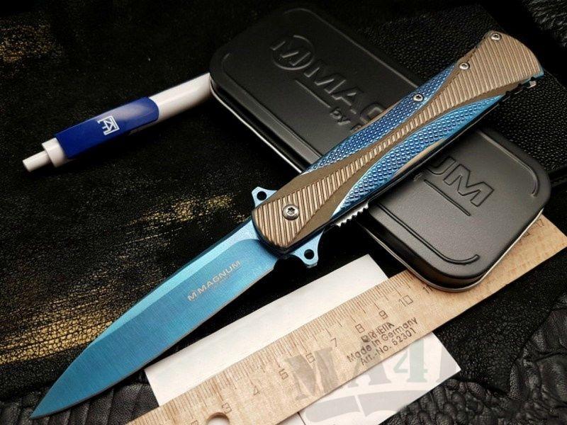 картинка Складной полуавтоматический нож Boker SE Dagger Blue 01LG114 от магазина ma4ete