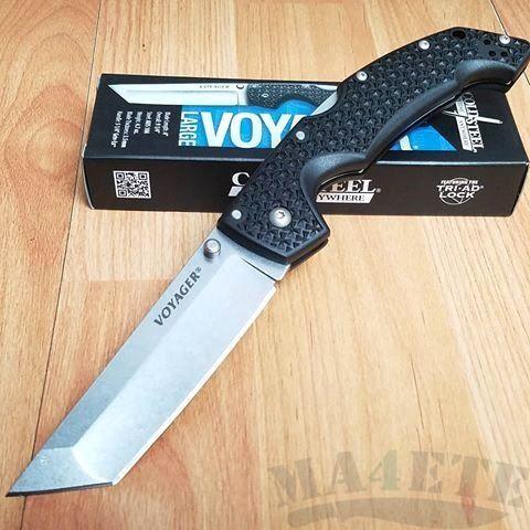 картинка Складной нож Cold Steel Voyager Large Tanto Aus 10A 29AT от магазина ma4ete