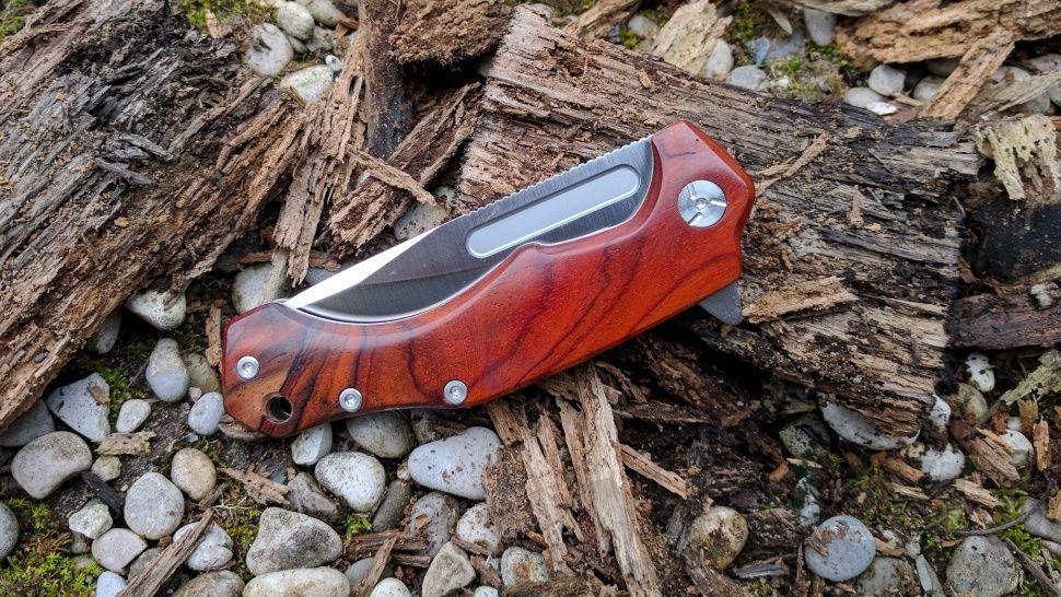 картинка Складной нож Fox Desert Fox Cocobolo Wood 520CB от магазина ma4ete