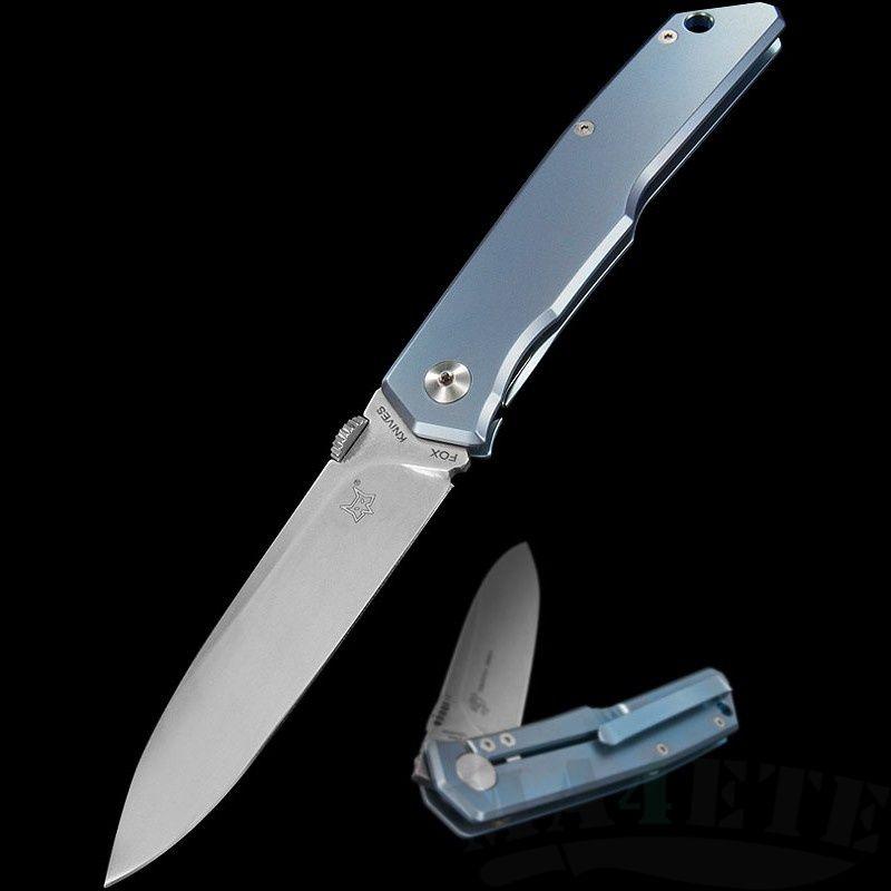 картинка Складной нож Fox Terzuola Blue Titanium 525TiBL от магазина ma4ete
