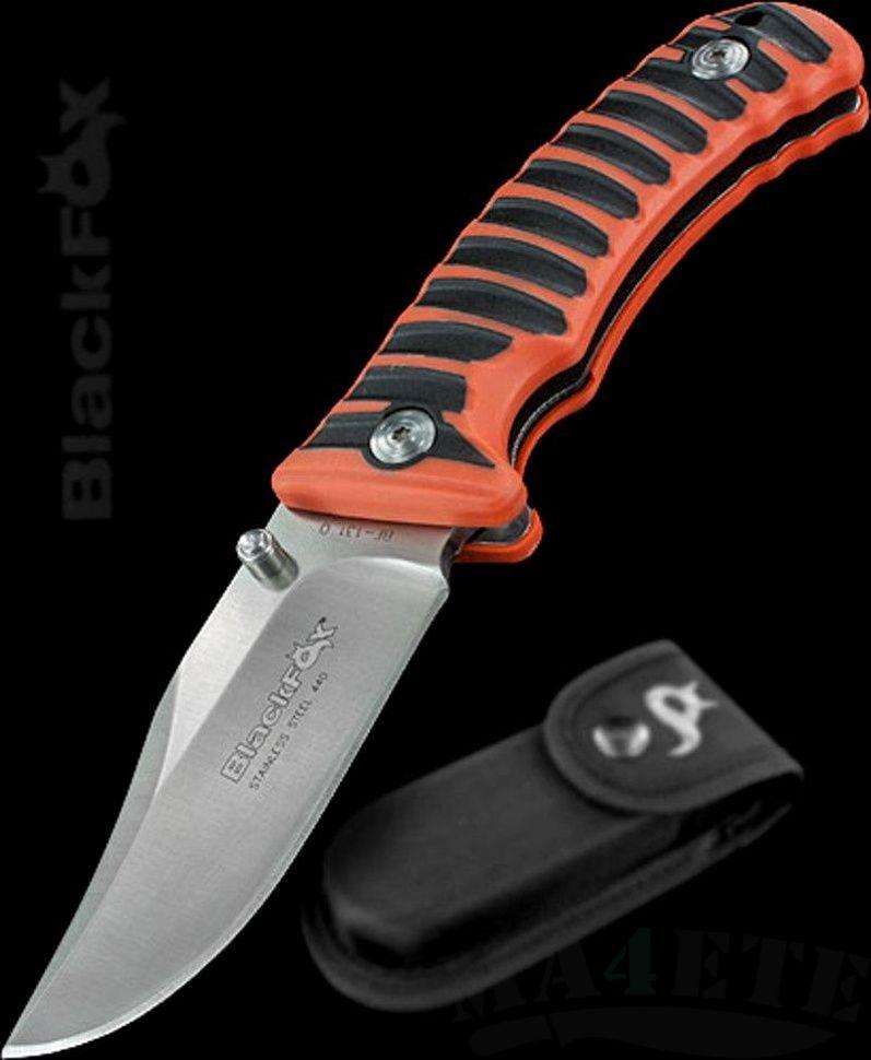 картинка Складной нож Fox Blackfox Clip Point Folder Orange BF-131OR от магазина ma4ete