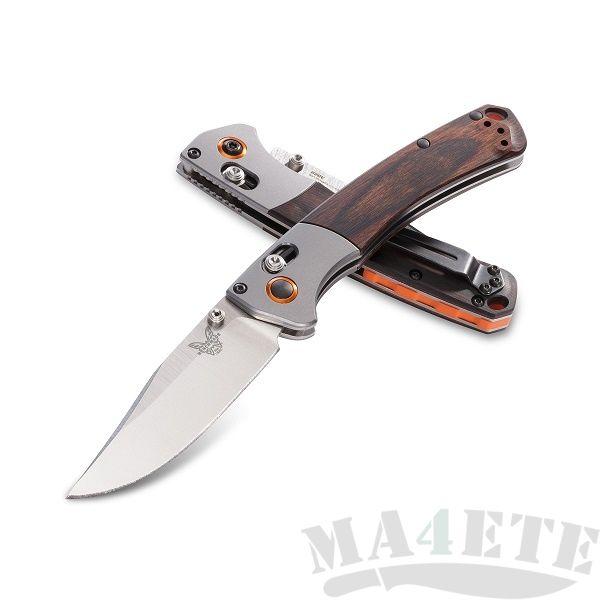 картинка Складной нож Benchmade Hunt Mini Crooked River Wood 15085-2 от магазина ma4ete