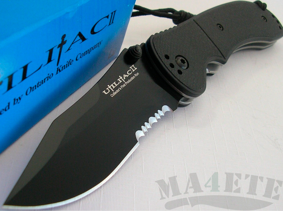 картинка Складной нож Ontario Utilitac II Black 8903 от магазина ma4ete
