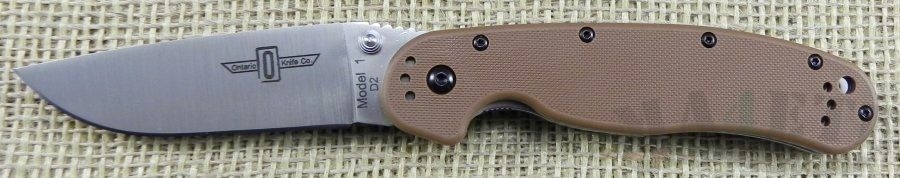картинка Складной нож Ontario RAT-1 Coyote Brown 8867CB от магазина ma4ete