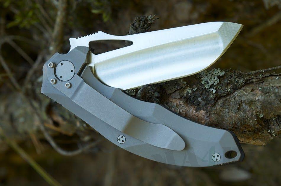картинка Складной нож Messerkonig Darkstalker Mini Slim V2 Titanium DSFms02ti от магазина ma4ete