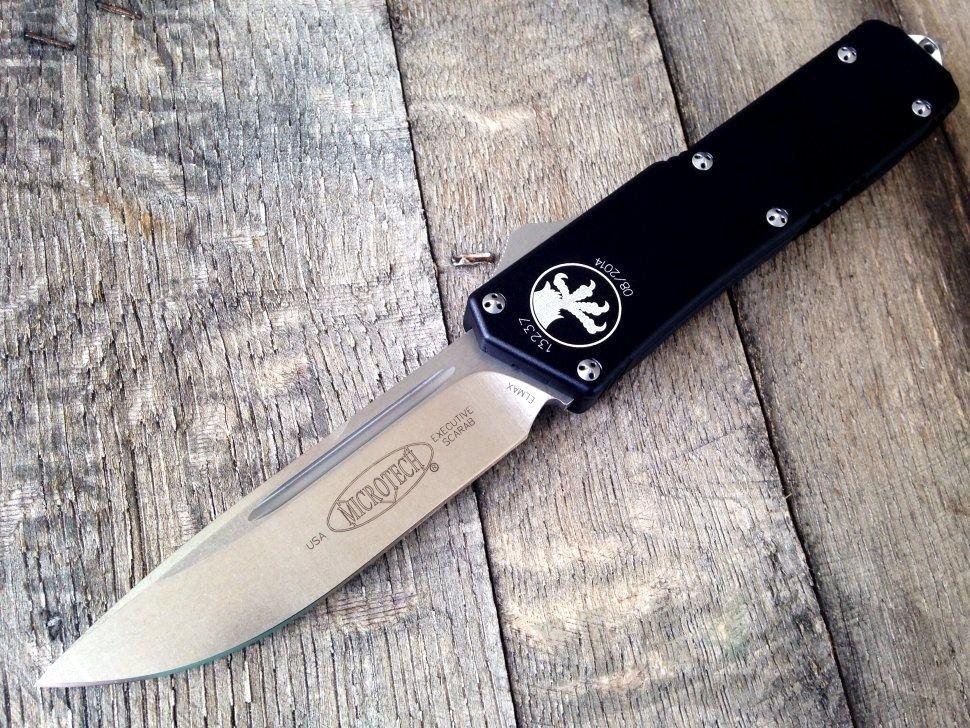 картинка Автоматический выкидной нож Microtech Scarab Executive S/E MT_176-4 от магазина ma4ete