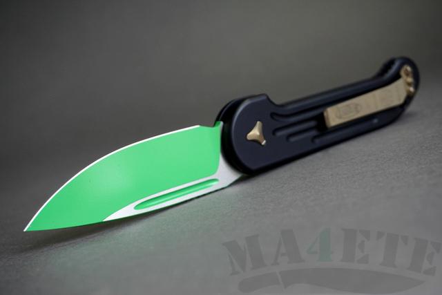 картинка Складной автоматический нож Microtech LUDT Jedi Master Green MT_135-1JM от магазина ma4ete