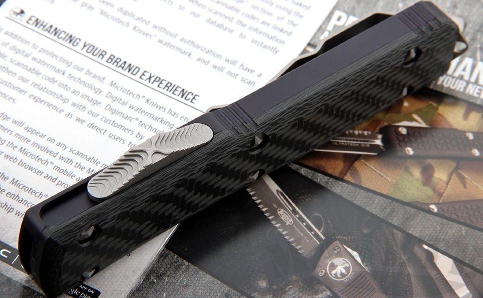 картинка Автоматический выкидной нож Microtech Ultratech T/E MT_123-1CF от магазина ma4ete