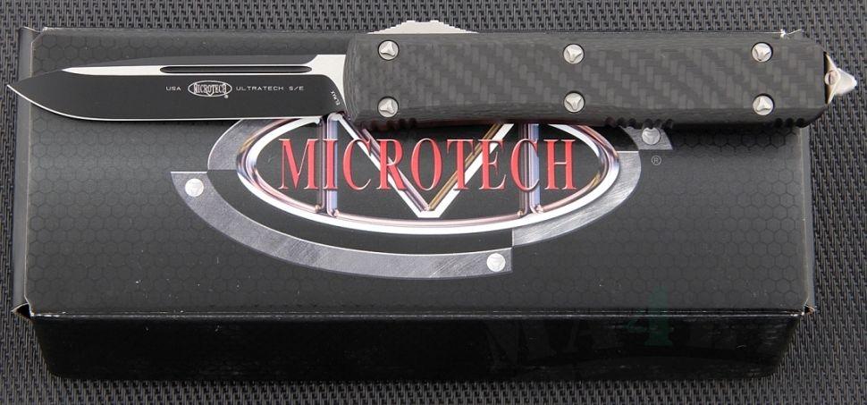 картинка Автоматический выкидной нож Microtech Ultratech S/E MT_121-1CF от магазина ma4ete
