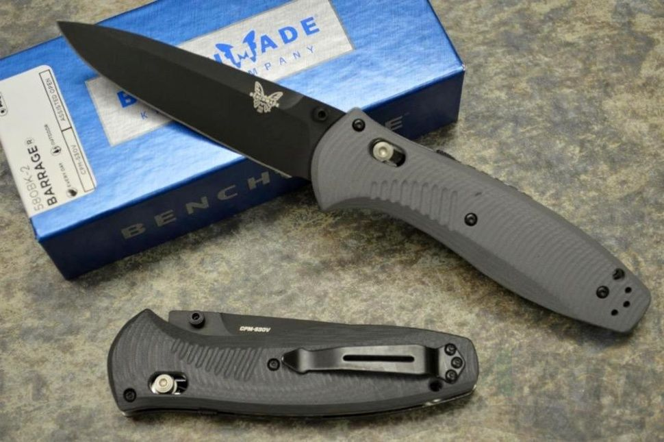 картинка Складной полуавтоматический нож Benchmade Barrage 580BK-2 от магазина ma4ete